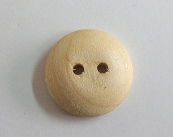 """Round Handmade Buttons Maple Wood Buttons 5/8"""" Round Buttons Handcrafted in the USA Sewing Supply Knitting Supply Crochet Supply"""