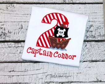 Personalized Pirate Shirt Birthday Shirt, Pirate Birthday Shirt, Pirate Ship, Pirate Party, Girl's Pirate Birthday