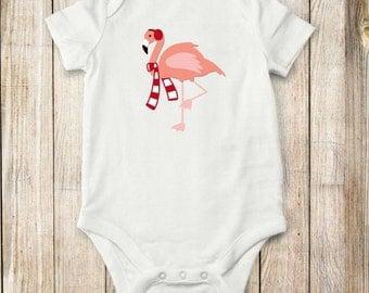 Holiday Flamingo, onesie, shirt