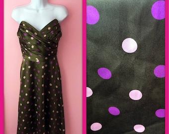 Vintage Green Betsey Johnson Strapless Bombshell Mini Polka Dot Dress