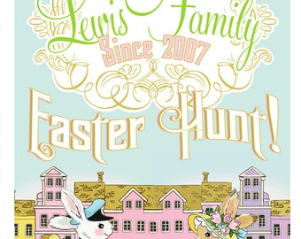 11x14 Art Easter Hunt Print Personalizable by Loralee Lewis