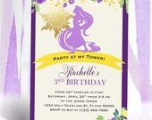Princess Rapunzel Tangled Birthday Invitation DIY