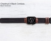 The Field Strap for Apple Watch and Series 2 - Chestnut and Black Cordura With Black hardware 42mm
