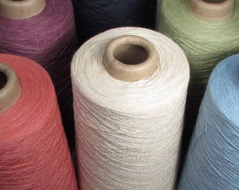 Organic Cotton Weaving Yarn 12/2, 1lb cone - Made in the USA!