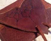 Simple scrappy patchwork buffalo hide wallet