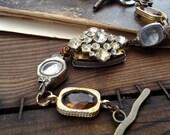 Upcycled bracelet - steampunk - Vintage watch bracelet - reworked watch - Upcycled watch - watch case bracelet - Steampunk bracelet