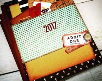 2017 Journal Notebook Diary Life Story Sketchbook Art Journal Keepsake Unlined Pages Gift for Her Gift for Him Holiday Hostess Gift Memories