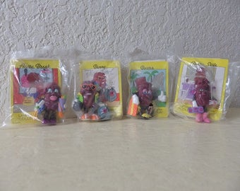Limited Edition California Raisins, Complete set of four in original packing.
