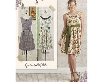 Simplicity Sewing Pattern 8294 Misses' / Petite Dress and Sash New UNCUT