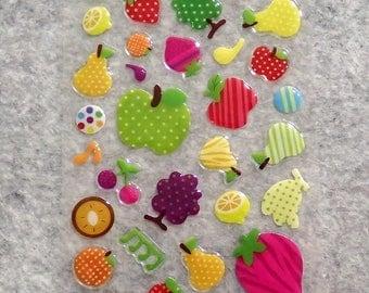 Mixed Cute PVC Happy Cute Fruit Stickers