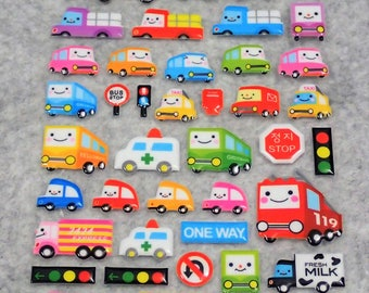 Mixed Cutie Sweet Smiley Vehicle Stickers