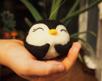 Penguin - Needle Felted Penguin - Penguin Ornament