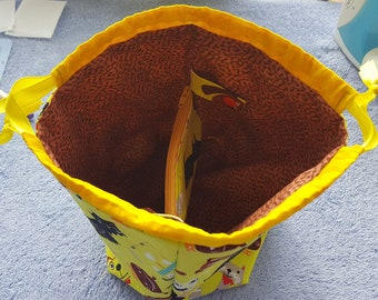 Sock Sack with zippered divider.  FREE shipping to US addresses.