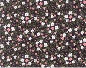 Olive's Flower Market - Flourish in Blackboard by Lella Boutique for Moda Fabrics