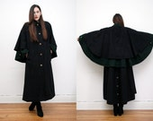 Vintage AVANT Garde WOOL Coat / Cape Coat / Princess Coat / Swing Coat RARE