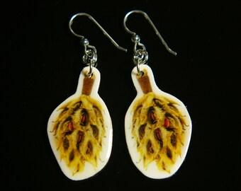 Desiccated Magnolia Earrings