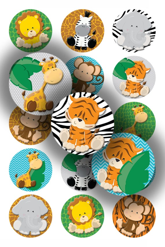 Safari animals 1 inch bottle caps digital download from Depot outlet bochum
