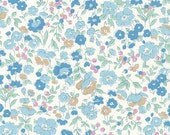 Robert Kaufman - Sevenberry Petite Garden - Petite GARLAND in Blue - Liberty of London Look - Japanese Cotton Fabric - choose your cut