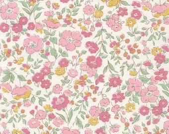 Robert Kaufman - Sevenberry Petite Garden - Petite GARLAND in Pink - Liberty of London Look - Japanese Cotton Fabric - choose your cut