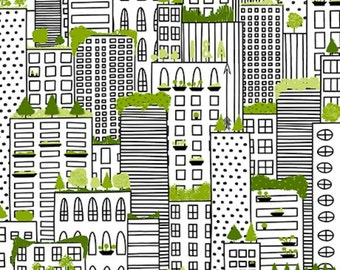 City Life by Ink & Arrow Fabrics - Rooftop Gardens in White (24300-Z) - Ink and Arrow- 1 Yard