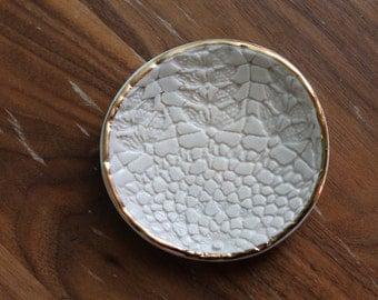 Lace Dish - Jewelry, soap dish, tea steeping shield