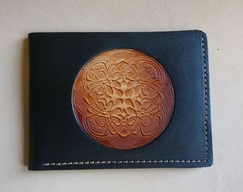 Men's Leather Wallet / Original Mandala Design by Sunburst