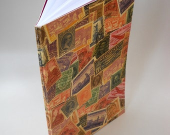 Postage Stamp Book, Postale Notebook, Perfect Binding Notebook