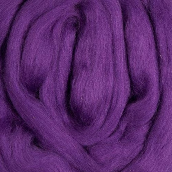 Merino Roving- 4 ounces -Purple - 21.5 microns Ashland Bay offered by Spinderellas Creations Spinning, Felting,Knitting, Weaving