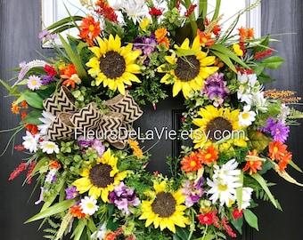 NEW! Summer Wreaths for Front Door, Summer Wreaths, Front Door Wreaths, Grapevine Door Wreath, Front Door Wreaths, Wreaths