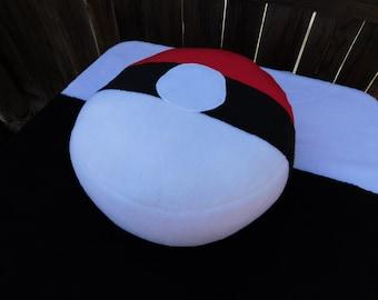 Super Snuggly Plush Pokeball Inspired Fleece Pillow