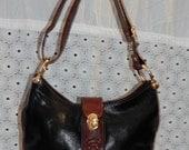70% off Vintage Authentic MARINO ORLANDI~Two Toned Glazed Leather~Hobo Bag Crossbody~Boho Bag