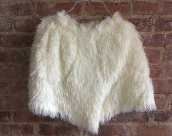 rare vintage issey miyake furry fuzzy cream pleats please shorts - free size