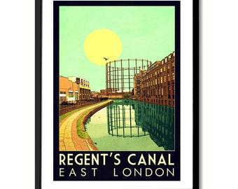 Regent's Canal, London Wall Art Print