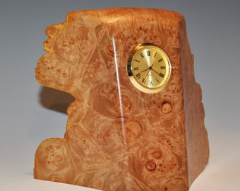 Clock  made of Big Leaf MAPLE BURL