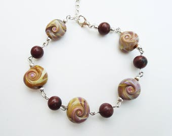 Sea Swirls and Jasper Bracelet