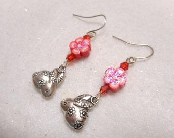 Easter Earrings, Easter Jewelry, Easter Egg Earrings, Easter Egg Jewelry, Easter Bunny Jewelry, Spring Jewelry, Easter Bunny Earrings