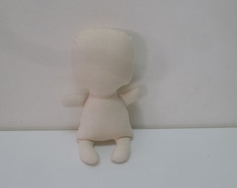 Baby rag doll, Premade baby doll, cloth doll, unfinished baby doll