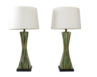 SOLD! Stunning Pair of Mid-Century Modern Table Lamps