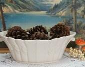 Vintage Cream White Abingdon Pottery Bowl