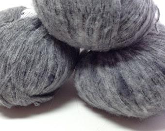 Ice Yarns Pop Art, Gray Alpaca and Merino Knitting Yarn, Thick and Thin Yarn, Crochet Supplies, Y210