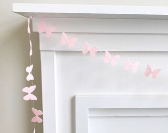 15% off Sale!! - Mini Felt Butterfly Garland, Bunting, Banner
