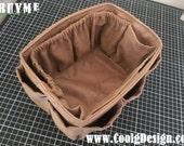 Purse Organizer Insert for LV NOE BB Bag / Extra Sturdy / Faux Coffee