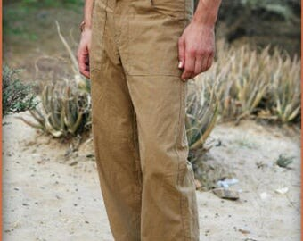 Men Straight Pants ~ Camel Brown
