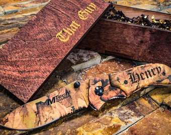 Camo Groomsmen Gift, Engraved Knife- Camo Wedding Gift- Engraved Pocket Knife, Personalized Knife, Boyfriend Gift, Husband Gift
