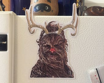 Chewbacca The Red Nosed Refrigerator Magnet