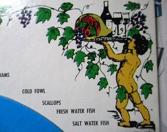 1964 Wine Wheel pairing Wine with food