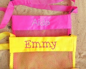 Blue Personalized Mesh Sea Shell Bags