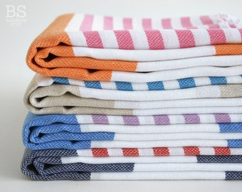 NEW / SALE 50 OFF/ Select a Color / Turkish Beach Bath Towel / Classic Towels