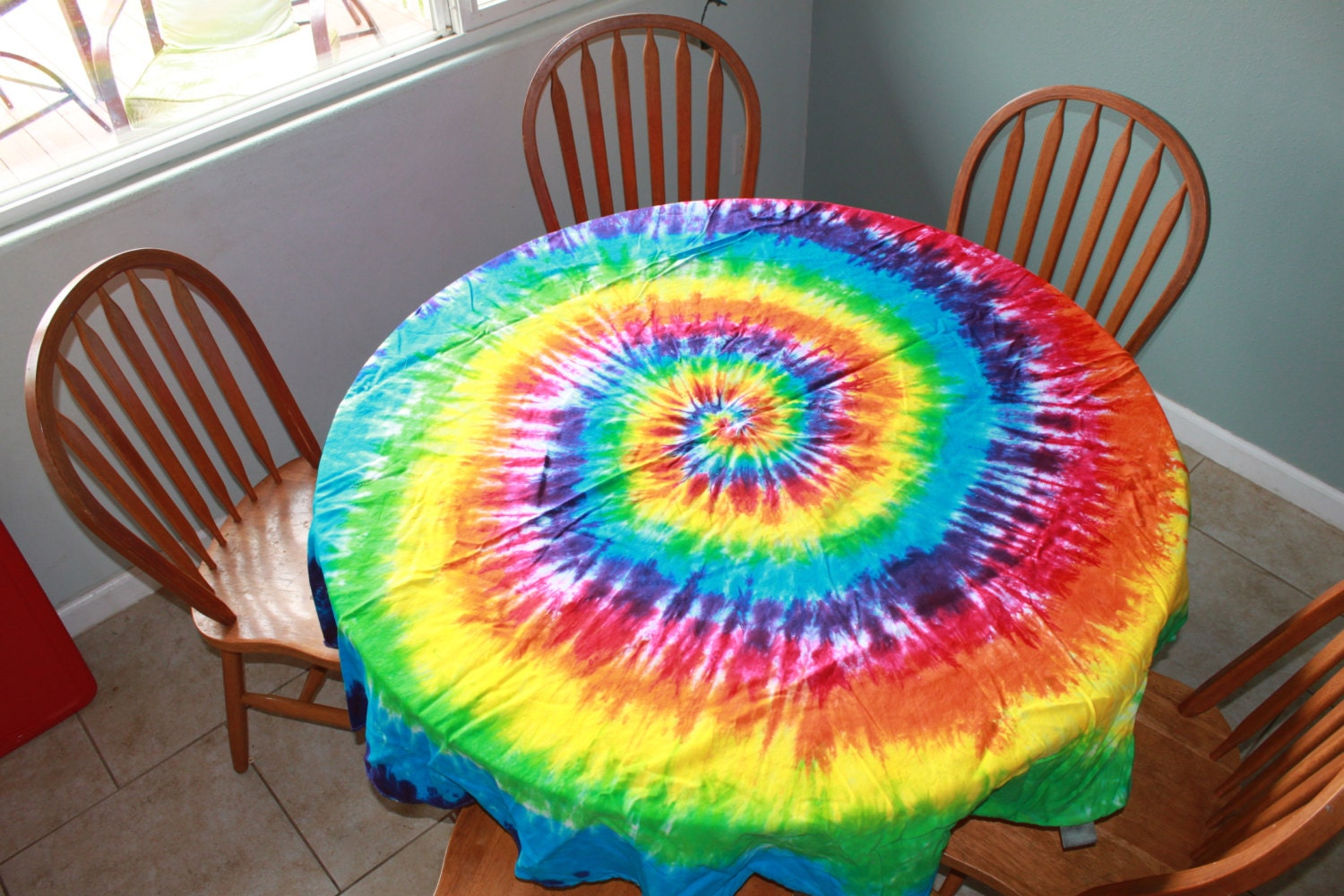 Tie Dye Round Tablecloth Sizes From 60 To 90