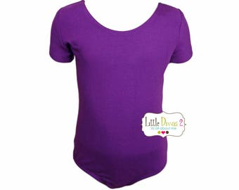 Purple Leotard-Ballet Short Sleeve Leotard (Children's)